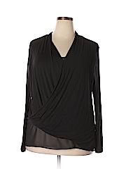 DKNYC Women Long Sleeve Top Size XL