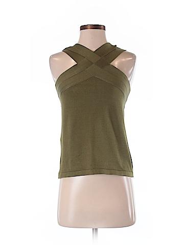 Oscar De La Renta Sleeveless Silk Top Size S