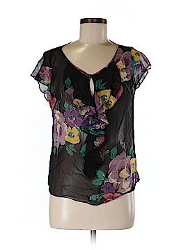 Ralph Lauren Short Sleeve Silk Top Size M