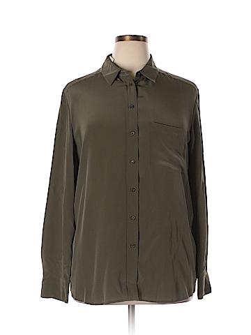 Vince. Long Sleeve Silk Top Size XL