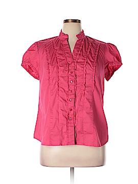 George Short Sleeve Button-Down Shirt Size XL