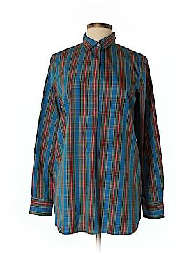Lands' End Long Sleeve Button-Down Shirt Size 10 (Tall)