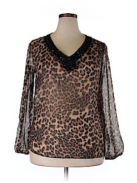 Be Lush Long Sleeve Blouse Size 3X (Plus)