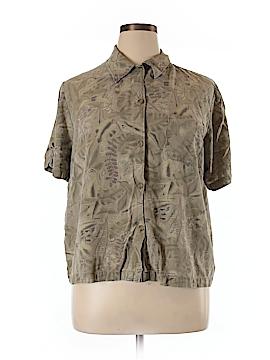 Sag Harbor Short Sleeve Silk Top Size 1X (Plus)