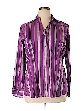 Ashley Stewart Long Sleeve Button-Down Shirt Size 12W
