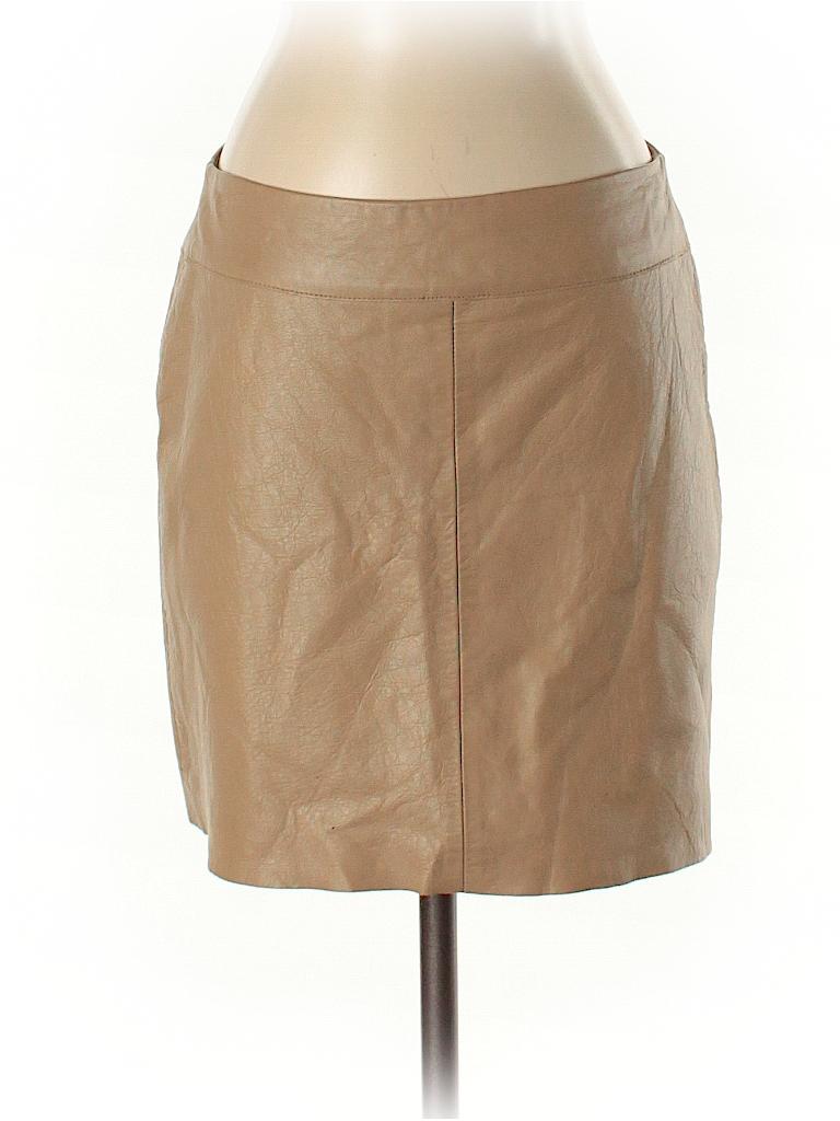 BCBGMAXAZRIA Women Leather Skirt Size 6
