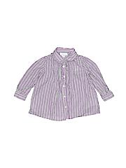 Ralph Lauren Girls Long Sleeve Button-Down Shirt Size 6 mo