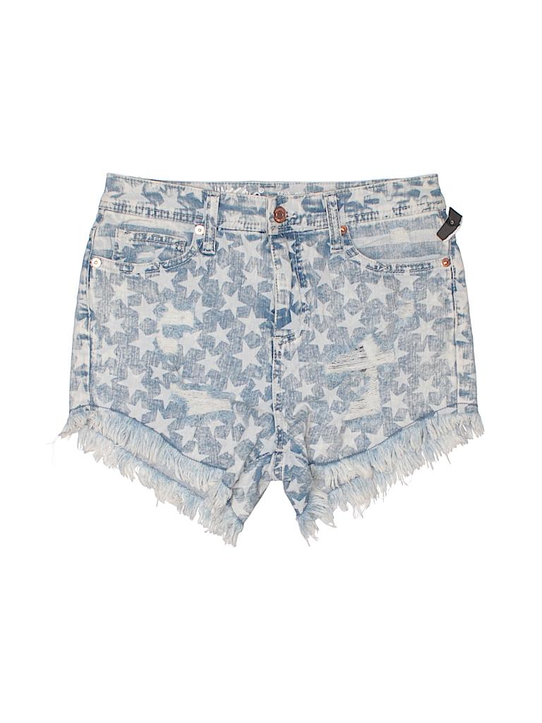 7aa6cc8c65d4 Mossimo Stars Light Blue Denim Shorts Size 2 - 94% off