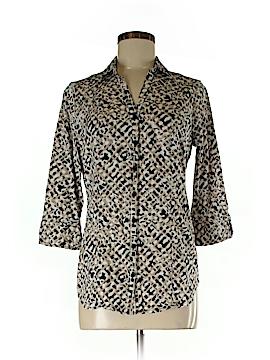 Dana Buchman 3/4 Sleeve Button-Down Shirt Size M