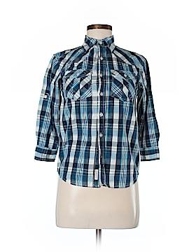 Weatherproof 3/4 Sleeve Button-Down Shirt Size 8