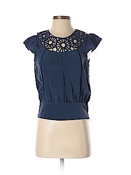 Madison Marcus Short Sleeve Silk Top Size S