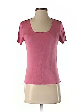 Episode Short Sleeve Silk Top Size L
