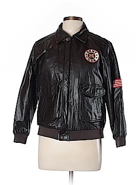 DKNY Leather Jacket Size 16