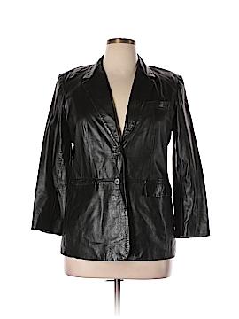 INC International Concepts Leather Jacket Size 14 (Petite)