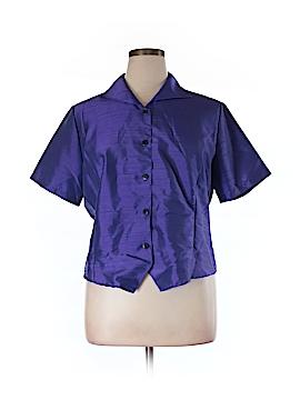 Impressions Short Sleeve Button-Down Shirt Size XL