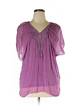 Carla Conti Short Sleeve Silk Top Size L