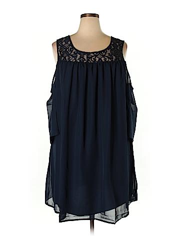 Bailey Blue Casual Dress Size 3X (Plus)