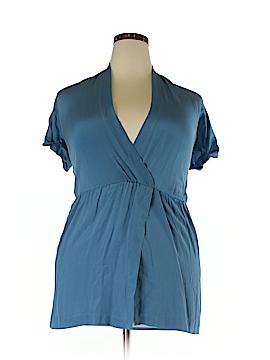 Gestuz Short Sleeve Silk Top Size 34 (EU)