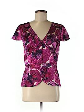 Dana Buchman Short Sleeve Silk Top Size 8
