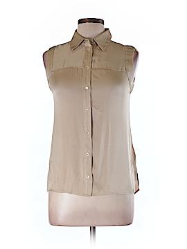 Rachel Zoe Short Sleeve Silk Top Size 8