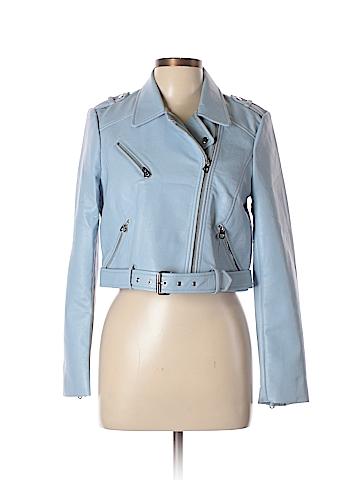 Zara TRF Faux Leather Jacket Size L