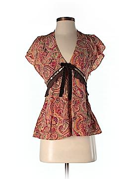 Karen Millen Short Sleeve Silk Top Size 4