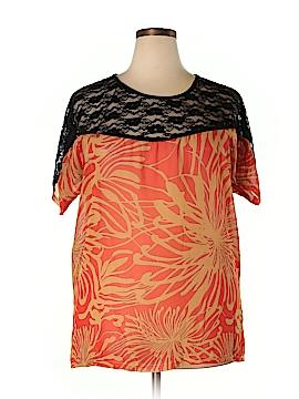 Be Lush Short Sleeve Blouse Size 2X (Plus)