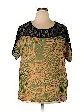 Be Lush Short Sleeve Blouse Size 3X (Plus)