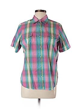 Wrangler Jeans Co Short Sleeve Button-Down Shirt Size L