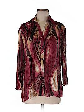 Jaipur Long Sleeve Button-Down Shirt Size S