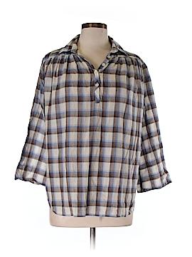 Steven Alan 3/4 Sleeve Button-Down Shirt Size L
