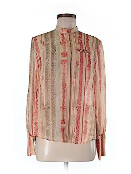 Gary Graham Long Sleeve Silk Top Size 4