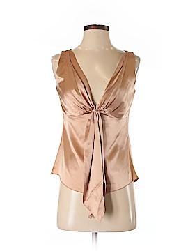 Sandra Angelozzi Short Sleeve Silk Top Size 34 (EU)