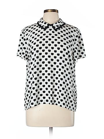 Kate Spade New York Short Sleeve Silk Top Size 12