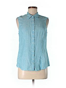 Island Company Sleeveless Button-Down Shirt Size M