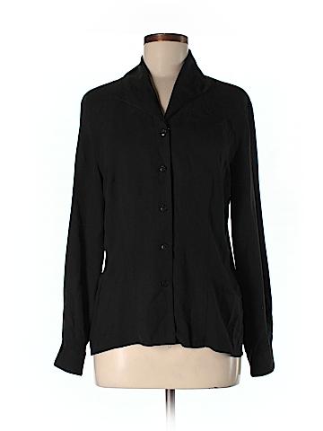 New York City Blouse Co Long Sleeve Silk Top Size 6