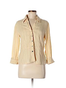 AK Anne Klein Long Sleeve Button-Down Shirt Size 8 (Petite)