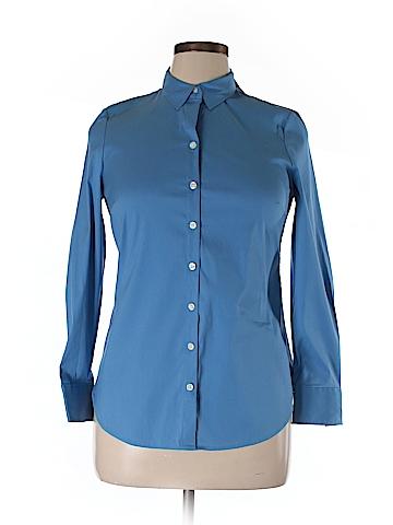 Ann Taylor Long Sleeve Button-Down Shirt Size 12 (Petite)