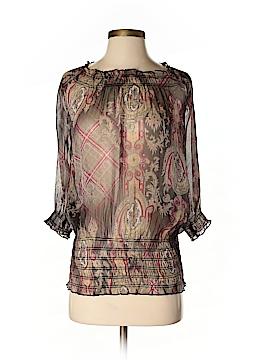 Criss Cross Short Sleeve Blouse Size S