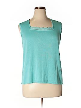 Maggie McNaughton Sleeveless Silk Top Size 1X (Plus)