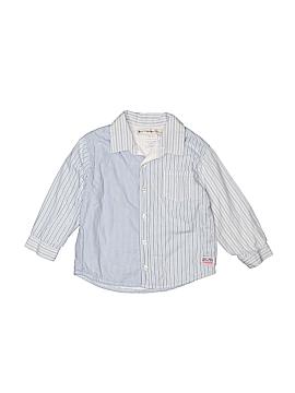 Petit Patapon Long Sleeve Button-Down Shirt Size 18-24 mo