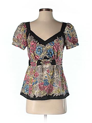 Viola Short Sleeve Silk Top Size 6