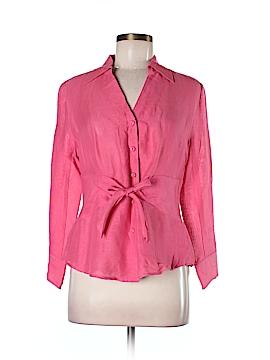 Nic + Zoe Long Sleeve Silk Top Size M