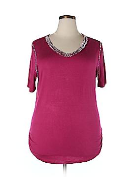 Be Lush Short Sleeve Top Size 2XL (Plus)