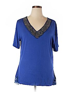 Be Lush Short Sleeve Top Size 1XL (Plus)
