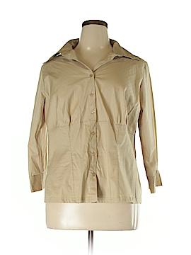 Ci Sono Long Sleeve Button-Down Shirt Size 2X (Plus)