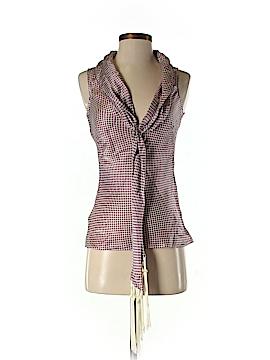 Alexander McQueen Short Sleeve Silk Top Size 38 (EU)