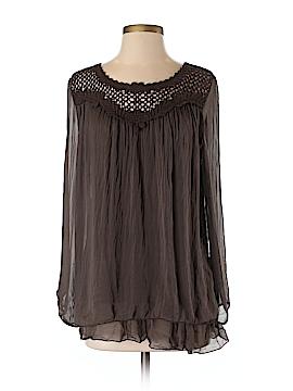 Carla Conti Long Sleeve Silk Top Size S
