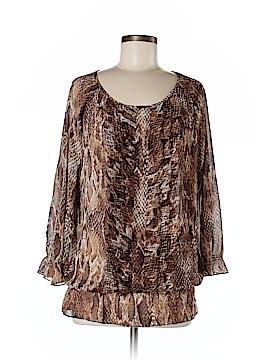 AK Anne Klein 3/4 Sleeve Blouse Size M