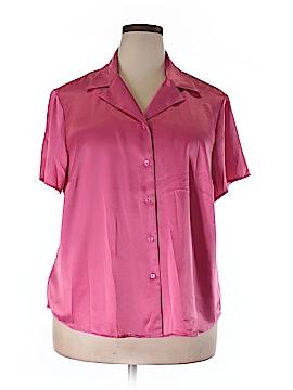 Kasper Short Sleeve Blouse Size 20w (Plus)